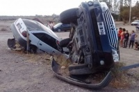 Ocho heridos tras el choque de un auto y una camioneta en Pocito
