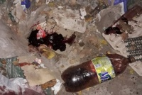 Confirmaron que había un feto en la botella encontrada con sangre