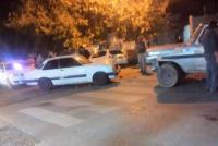 Rawson: triple choque en la esquina de República del Líbano y Rivadavia