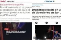Los medios nacionales hicieron gran eco del dramático rescate en el parque de diversiones