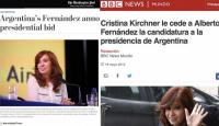 Portales de todo el mundo reflejaron la candidatura a vicepresidente de Cristina Kirchner