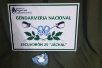 Jáchal: sorprendieron a un sujeto que tenía 25 gramos de cocaína