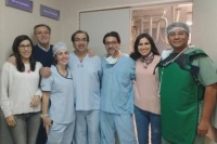 Realizaron un tratamiento endovascular no quirúrgico vía hemodinamia en el Hospital Rawson