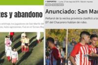 Peñarol, otra vez en el ojo de medios nacionales: así reflejaron los incidentes en Chimbas