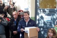 Votó Sergio Uñac en Pocito: