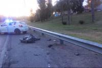 Un motociclista fue herido de gravedad en la Avenida de Circunvalación