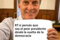 """#HartosDeCambiemos: el hashtag que señala a Macri como el """"peor presidente desde la vuelta de la democracia"""""""