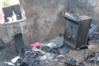 Murió el bebe herido en el incendio en Pocito