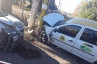 Accidente automovilístico en el límite de Rawson y Pocito