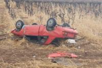 La Majadita: un automovilista volcó en la Ruta 183