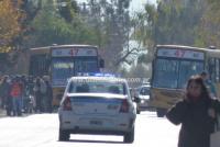 Dos colectivos de la misma línea chocaron y una mujer terminó herida