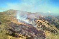 Incendio en las sierras de Valle Fértil: el fuego se apagó en su totalidad