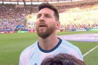 Esta vez Lionel Messi sí cantó el himno nacional argentino