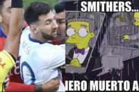 Roja y memes: las redes estallaron tras la expulsión a Messi