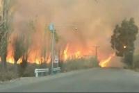 Otro incendio causa del Zonda: explotó un transformador en Médano de Oro