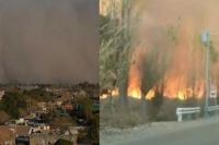 45 incendios se registraron como consecuencia del viento Zonda