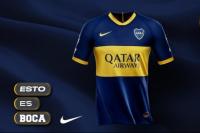 Boca presentó su nueva camiseta titular con un modelo que llamó la atención