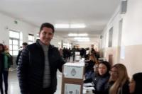 Gustavo Fernández votó en Rivadavia