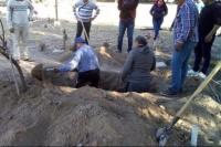 Cinco hermanos debieron cavar la fosa para sepultar a su madre en el cementerio de Ullum