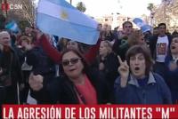 Buenos Aires: militantes macristas echaron al móvil de C5N de la marcha