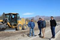 El intendente de Ullum visitó los avances del nuevo Boulevard en Villa Aurora