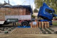 Incautaron un camión con más de 180kilos de hojas de coca
