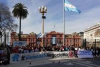 Hipotecados UVA exigieron una solución con una marcha en Plaza de Mayo