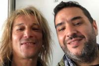 Piedra libre para el Pájaro: Caniggia fue a ver el debut de Maradona en Gimnasia
