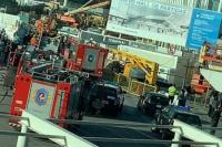 Derrumbe en el Aeropuerto de Ezeiza: un muerto y varios heridos