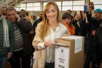 """Anabel Fernandez Sagasti tras emitir su voto: """"Lamento que el Gobernador se vaya enojado y rompiendo la ley"""""""