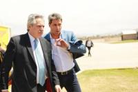 Alberto Fernández arribó a la provincia para cumplir con una extensa agenda reprogramada