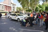 Taxista atropelló a una mujer de 65 años en pleno centro