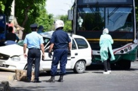 Imágenes sensibles: así fue el accidente fatal en Capital, en el que murió una mujer