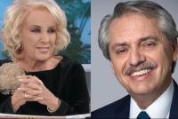 Mirtha Legrand felicitó a Alberto Fernández:
