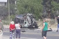 Accidente en Lavalle: el conductor del auto tiene politraumatismo