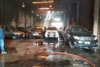Rawson: seis vehículos dañados tras un incendio en una concesionaria