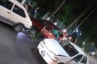 Albardón: tres automovilistas y un motociclista protagonizaron un choque en cadena