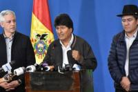 Evo Morales pide que le dejen terminar su mandato y avisa que no será candidato en una nueva elección