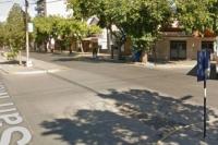 Nuevo accidente en Libertador y Aberastain: una moto quedó destruida