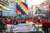 En Argentina marchan a favor de Evo Morales