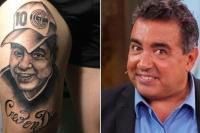 Se hizo un tatuaje de Diego ¿Maradona o Pérez?