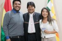Los hijos de Evo Morales tendrán asilo en Argentina