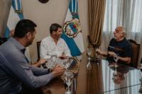 Sergio Uñac recibió a dirigentes de UTA