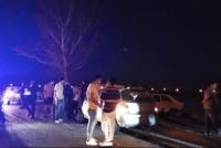 Tremendo choque a la salida de un boliche en Pocito