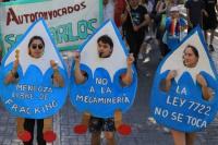 Continúa la marcha en Mendoza contra las reformas a la ley minera