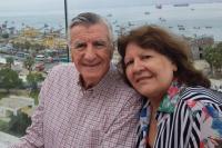 El último romántico: Gioja saludó a su mujer en sus 45º aniversario de casados