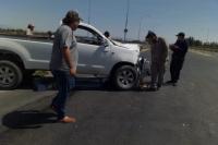 Violento choque entre dos camionetas en un cruce peligroso de Pocito