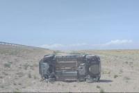 Una familia sanjuanina volcó en Mendoza por el fuerte viento zonda
