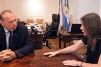 Berni y la ministra de Seguridad, coordinaron el trabajo de la Fuerza Federal