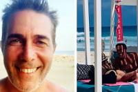 Rodolfo Barili enamorado de su novia en Cancún
